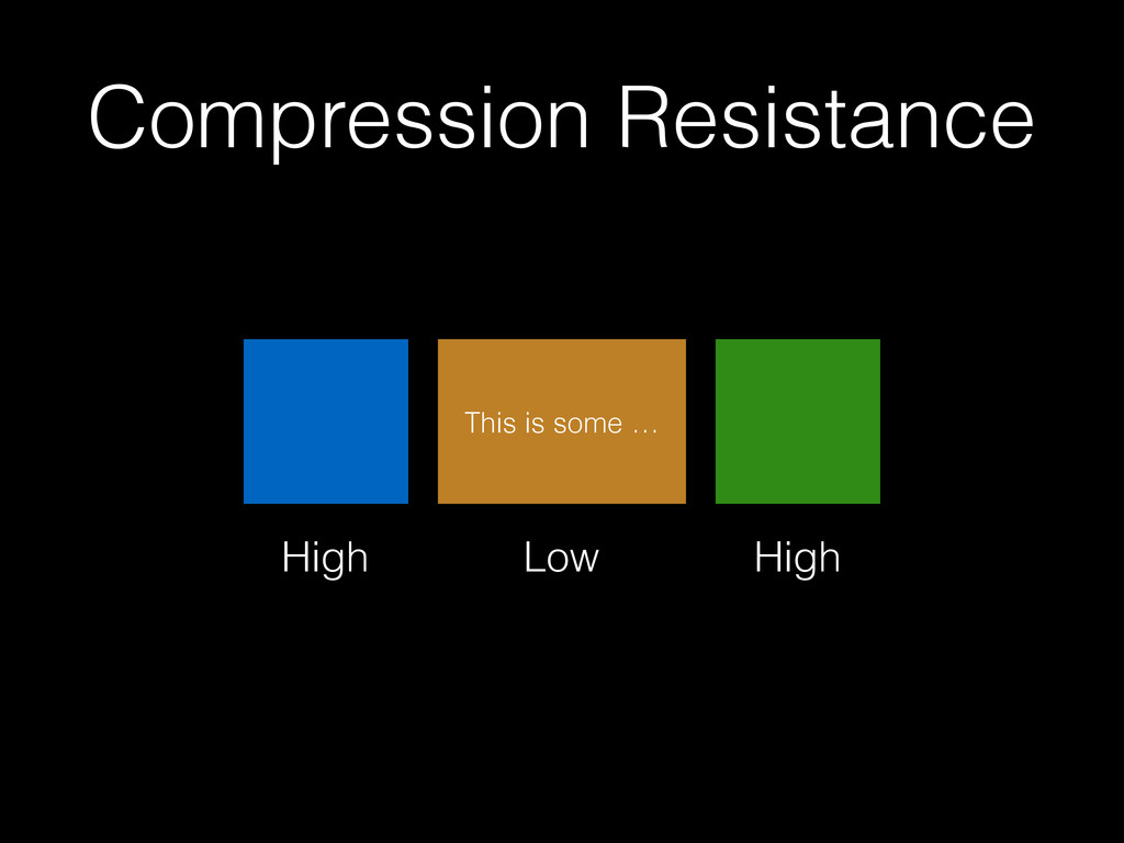 Compression Resistance This is some … Low High ...