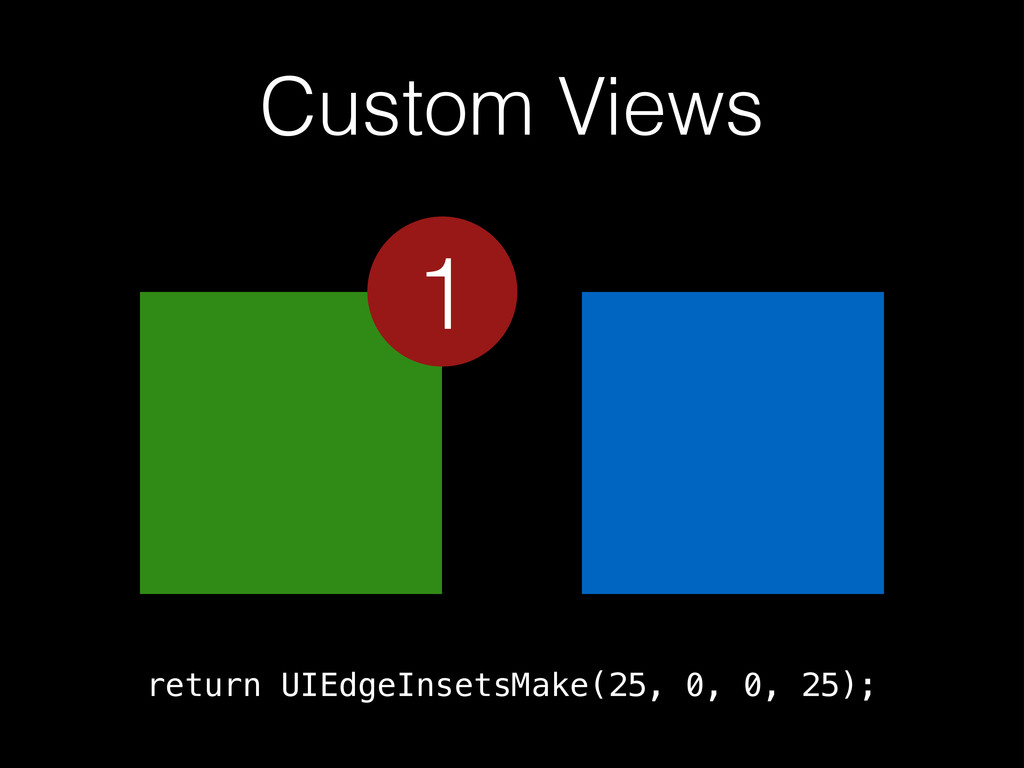 Custom Views return UIEdgeInsetsMake(25, 0, 0, ...