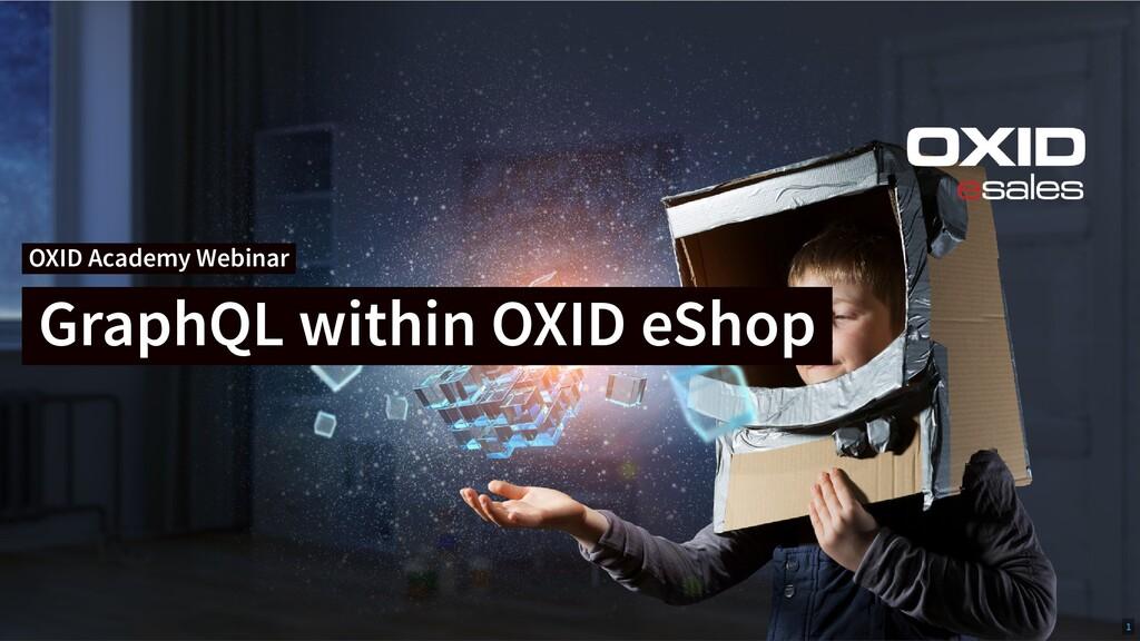 OXID Academy Webinar GraphQL within OXID eShop ...