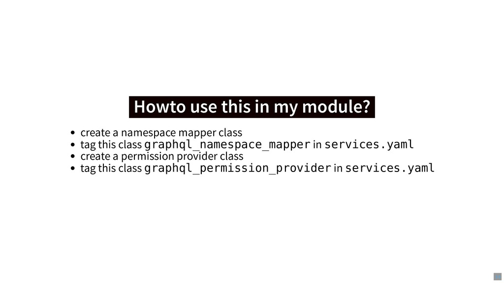 Howto use this in my module? Howto use this in ...