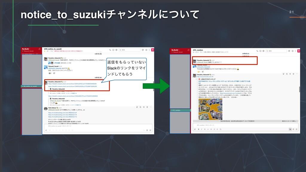 2 1 notice_to_suzukiνϟϯωϧʹ͍ͭͯ ฦ৴ΛΒ͍ͬͯͳ͍ Slackͷ...