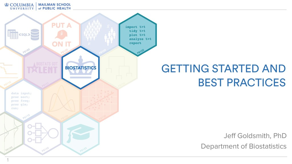 1 GETTING STARTED AND BEST PRACTICES Jeff Gold...