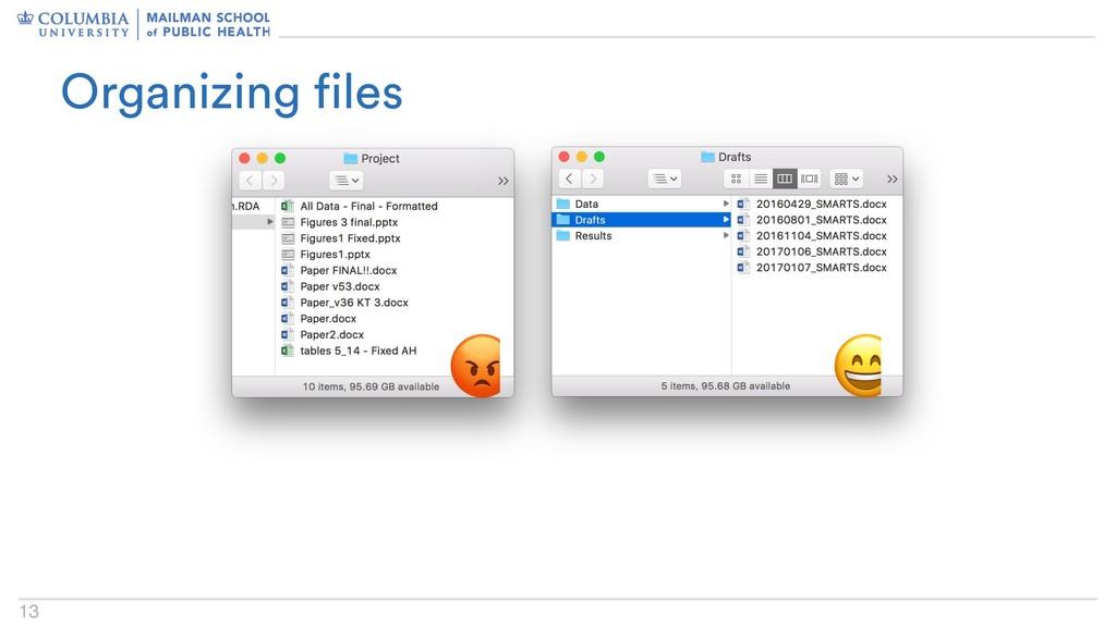 13   Organizing files