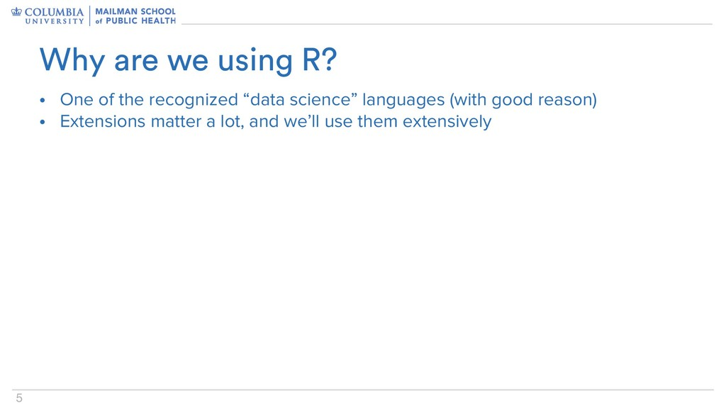 """5 • One of the recognized """"data science"""" langua..."""