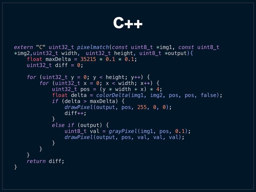 """extern """"C"""" uint32_t pixelmatch(const uint8_t *i..."""
