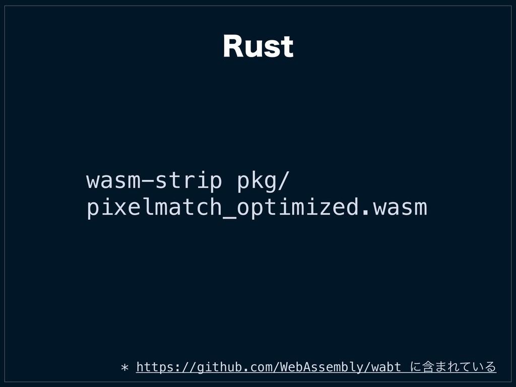 wasm-strip pkg/ pixelmatch_optimized.wasm * htt...