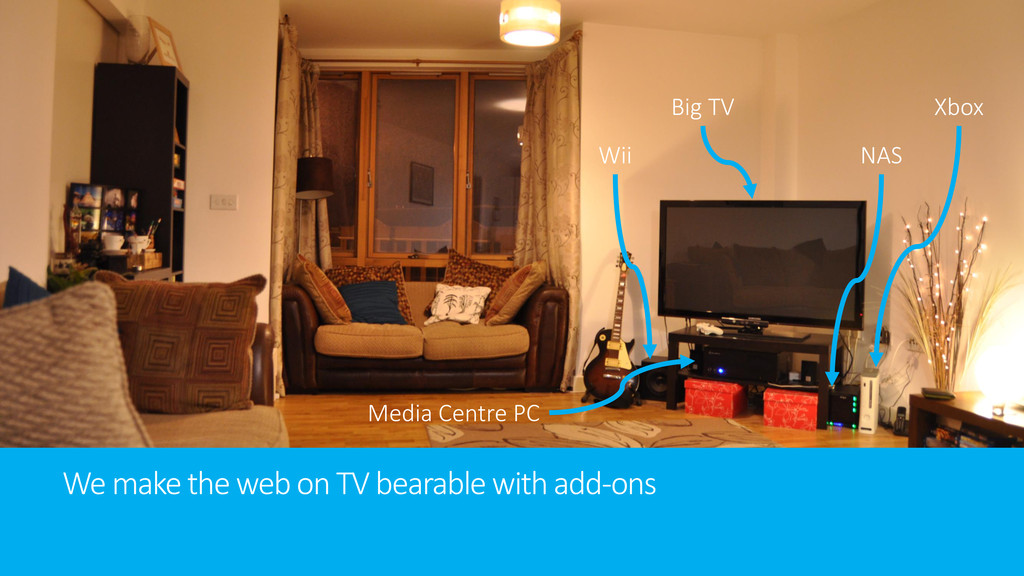 We make the web on TV bearable with add-ons Big...