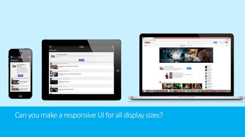 Can you make a responsive UI for all display si...