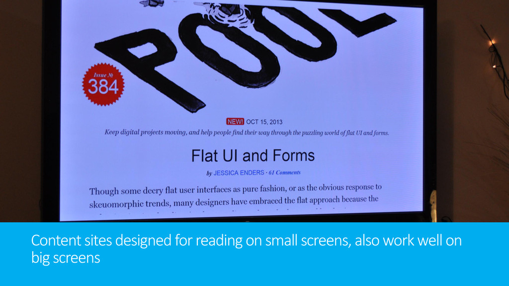 Content sites designed for reading on small scr...