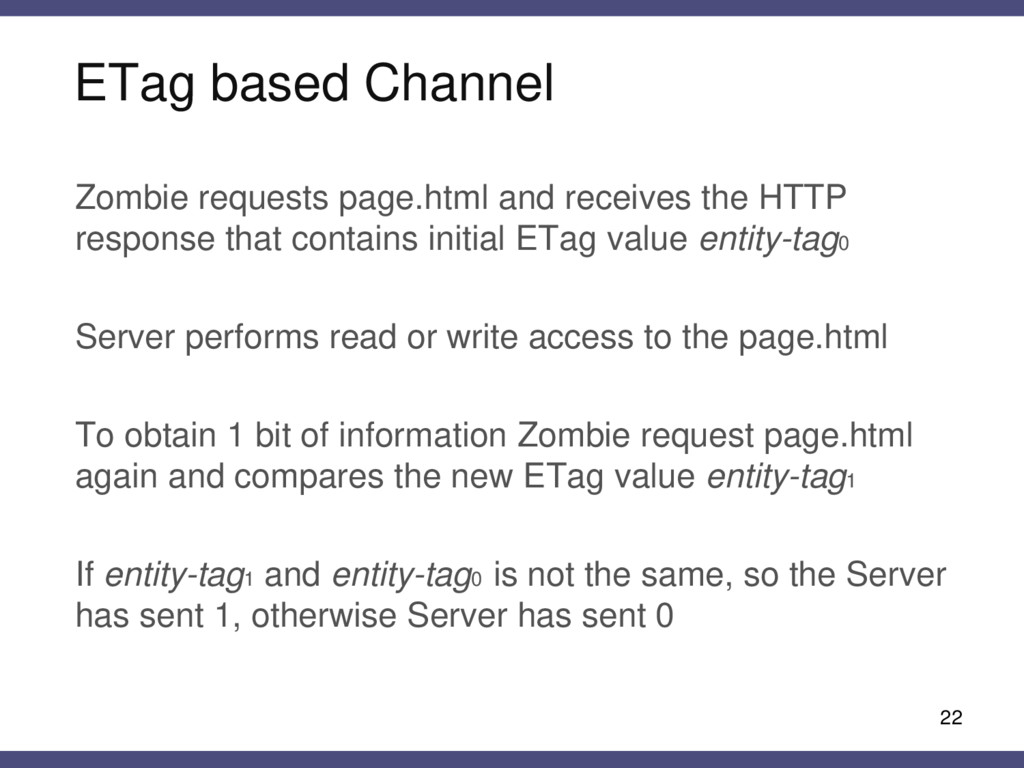 ETag based Channel 22 Zombie requests page.html...