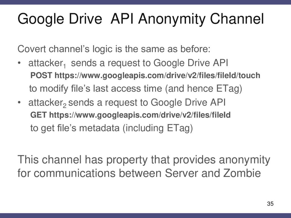 Google Drive API Anonymity Channel Covert chann...