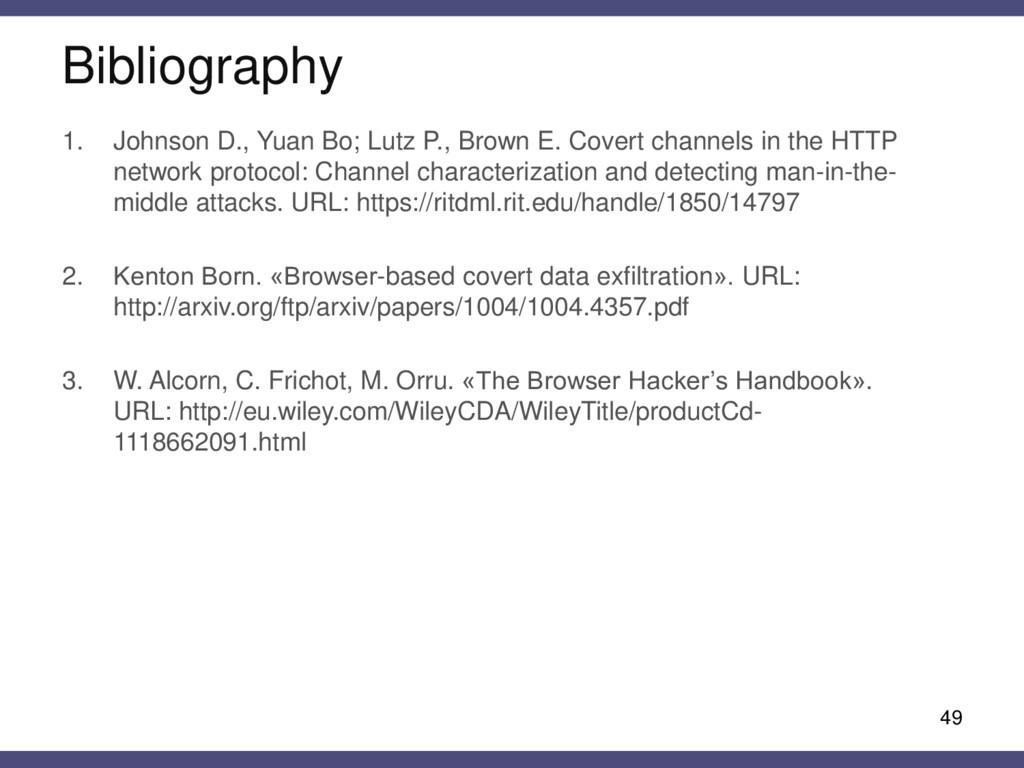 Bibliography 49 1. Johnson D., Yuan Bo; Lutz P....