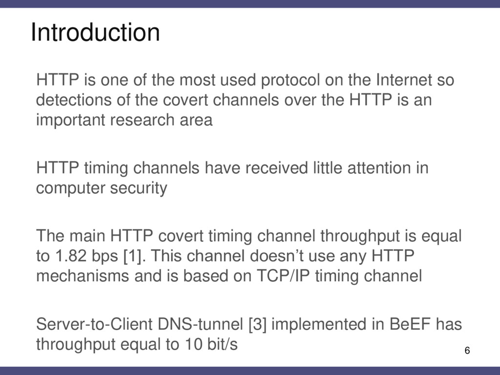 Introduction HTTP is one of the most used proto...