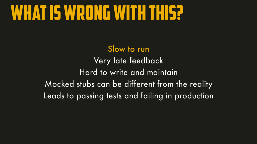 What is wrong with this? Slow to run Very late ...