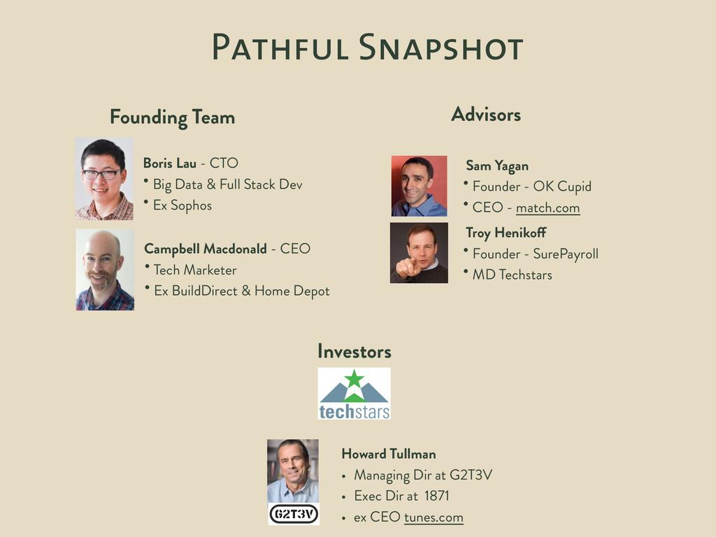 Pathful Snapshot Founding Team Boris Lau - CTO ...