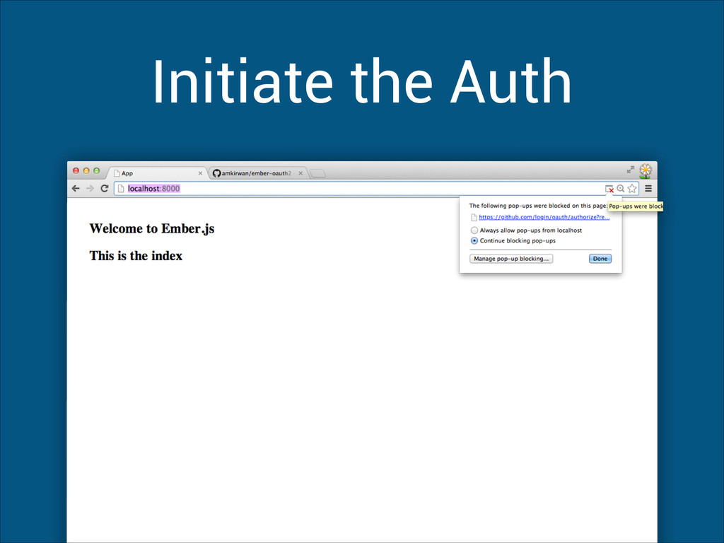 Initiate the Auth