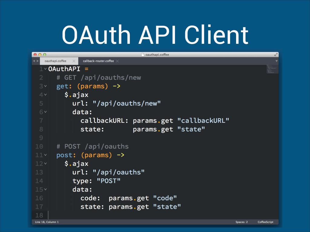 OAuth API Client
