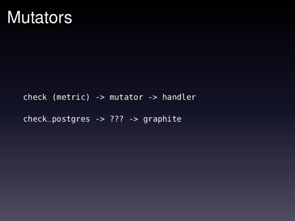 Mutators check (metric) -> mutator -> handler c...