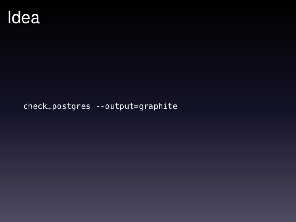 Idea check_postgres --output=graphite