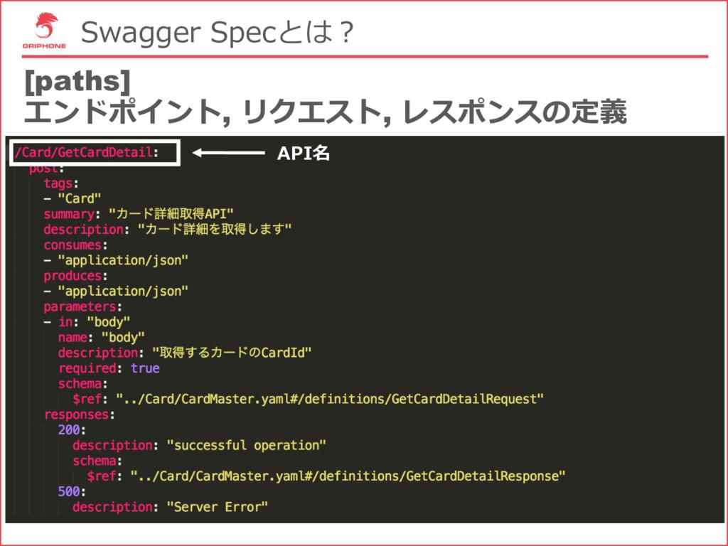 Swagger Specとは? [paths] エンドポイント, リクエスト, レスポンスの定...