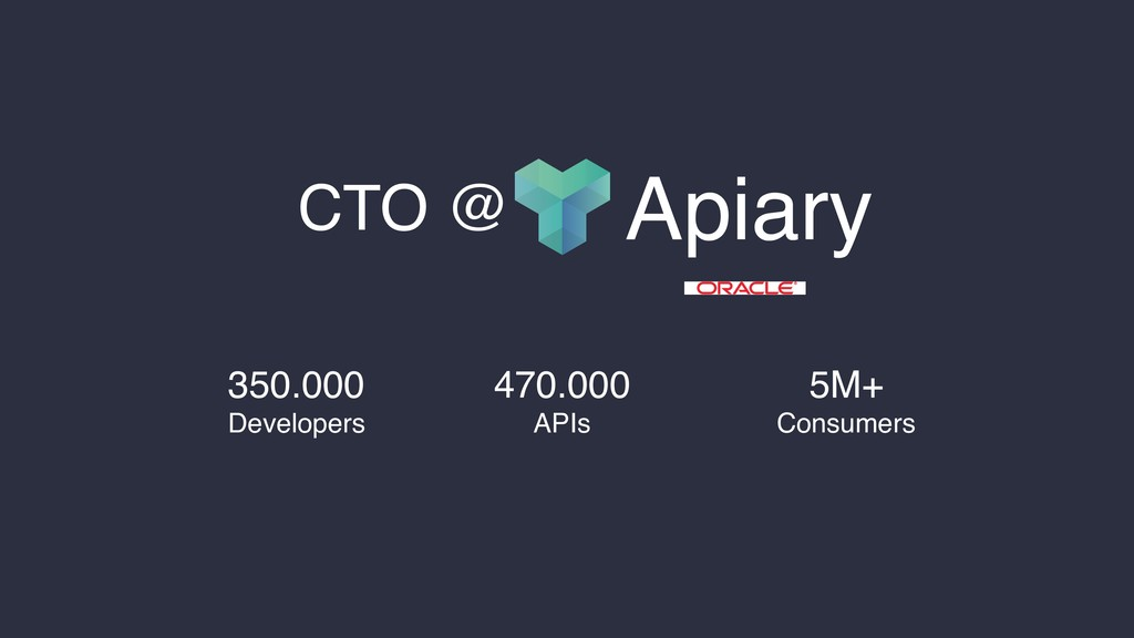 470.000 APIs 5M+ Consumers 350.000 Developers A...