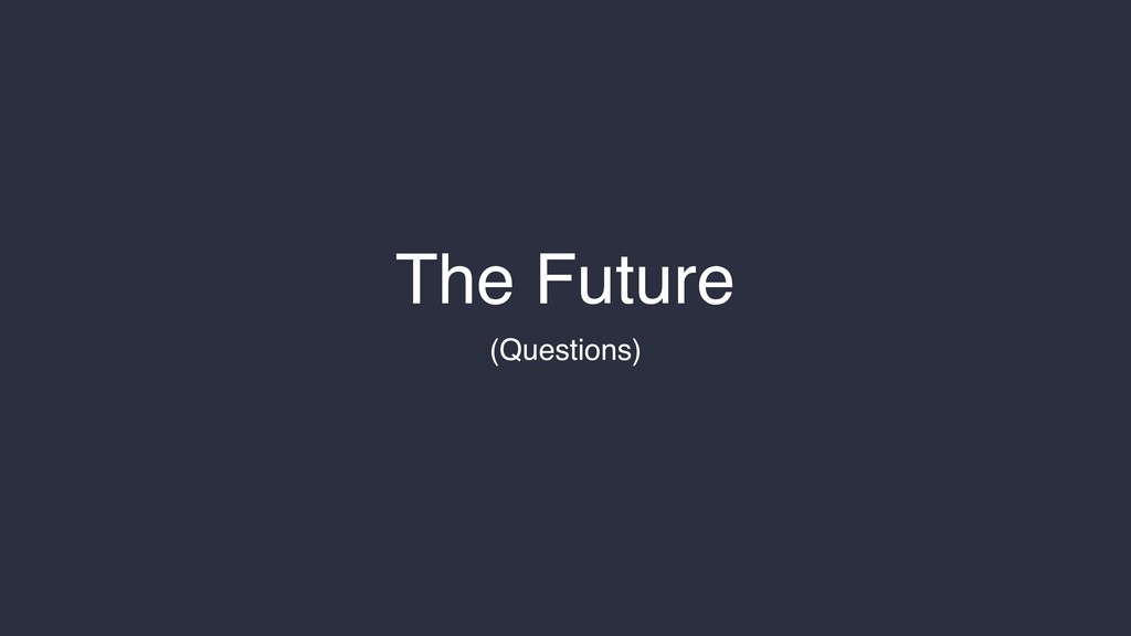 The Future (Questions)