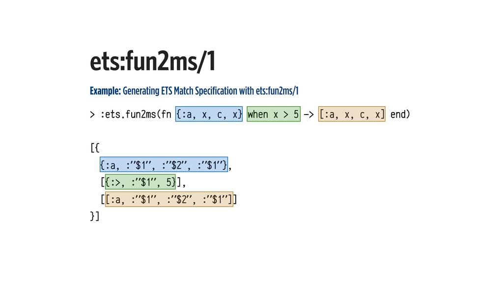 Example: Generating ETS Match Specification wit...