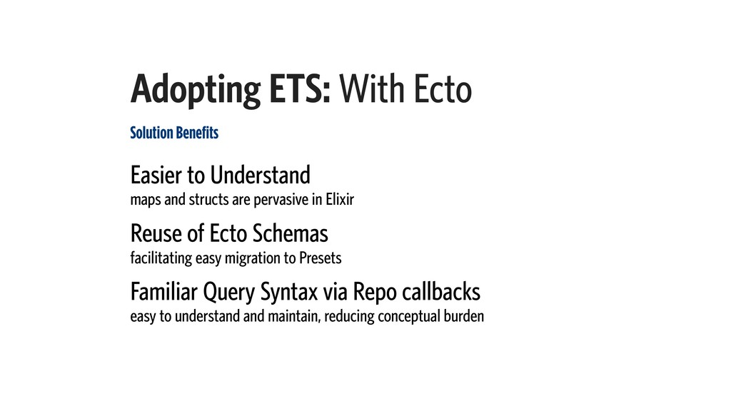 Adopting ETS: With Ecto Solution Benefits Easie...