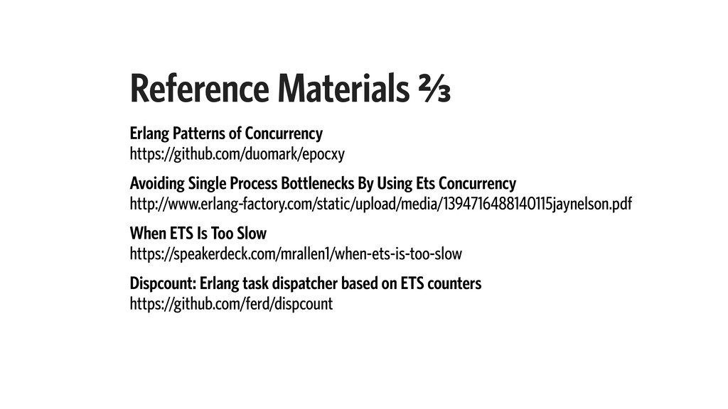 Reference Materials B⁄c Erlang Patterns of Conc...