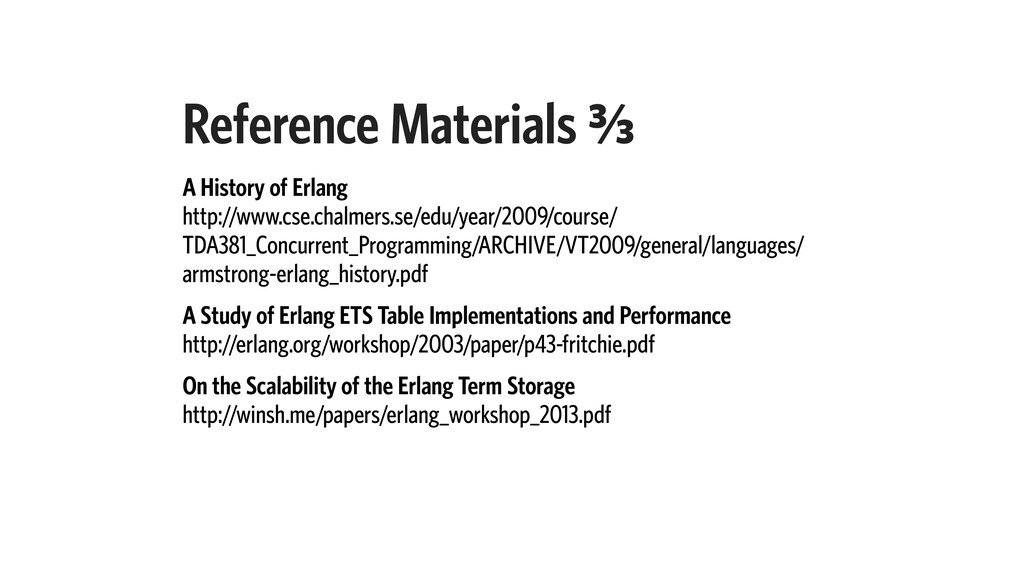 Reference Materials C⁄c A History of Erlang