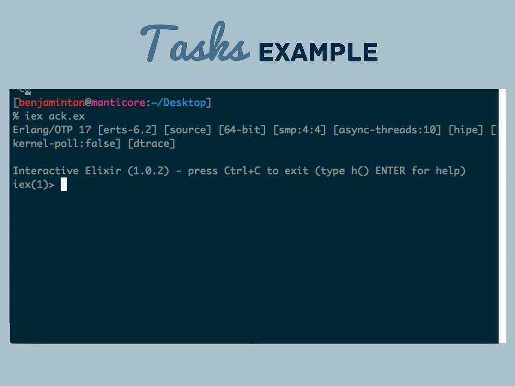 Tasks Example