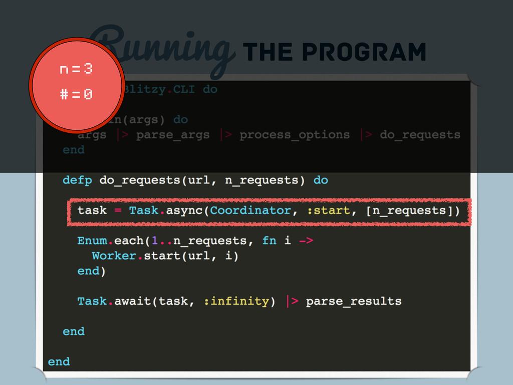 Running the program n = 3 # = 0