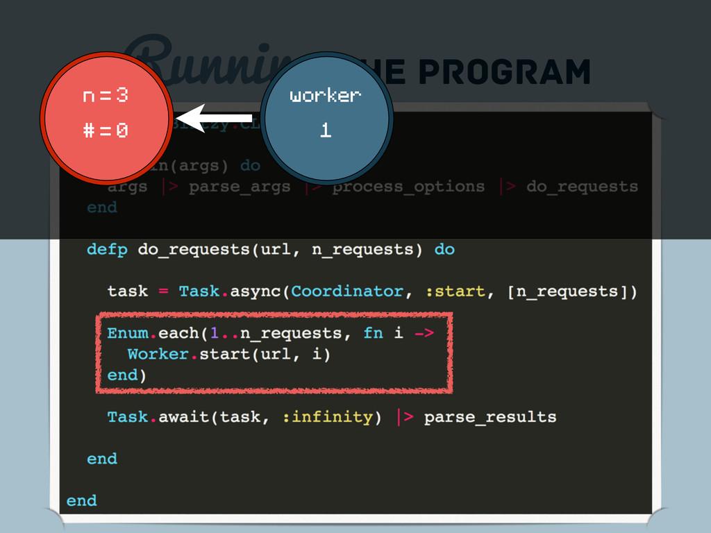 Running the program n = 3 # = 0 worker 1