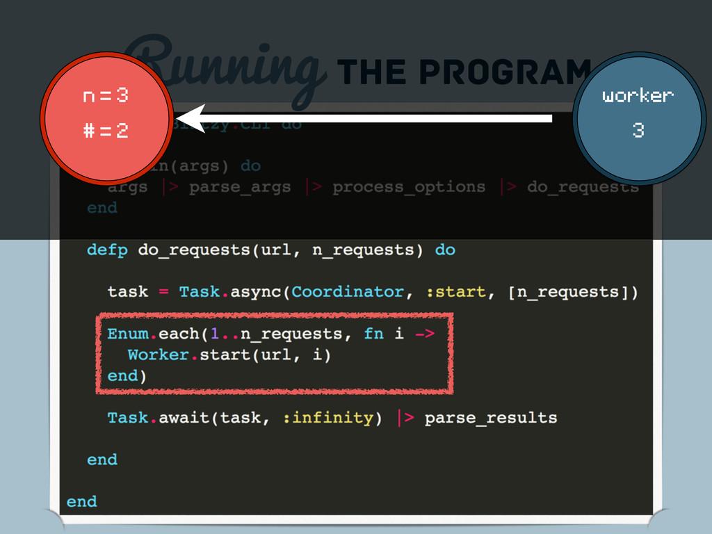 Running the program n = 3 # = 2 worker 3