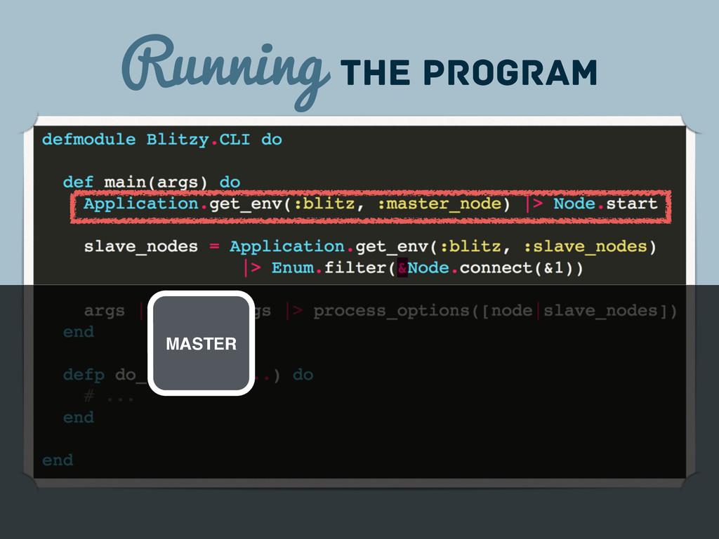 Running the program MASTER