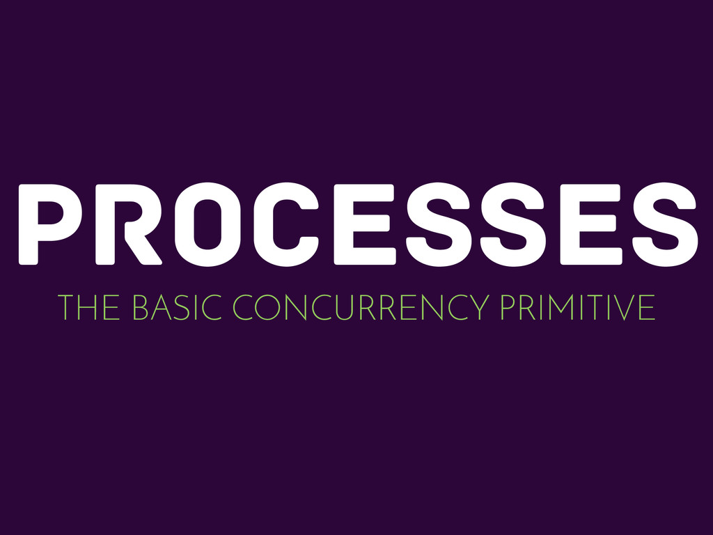 processes THE BASIC CONCURRENCY PRIMITIVE