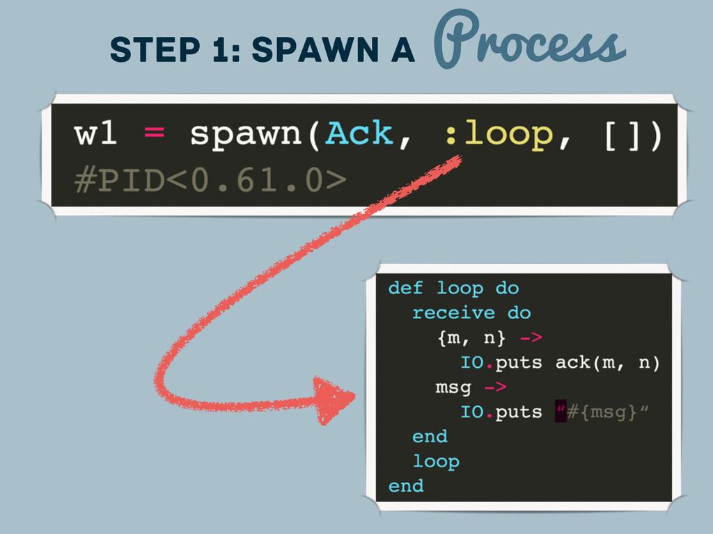 Step 1: spawn a Process