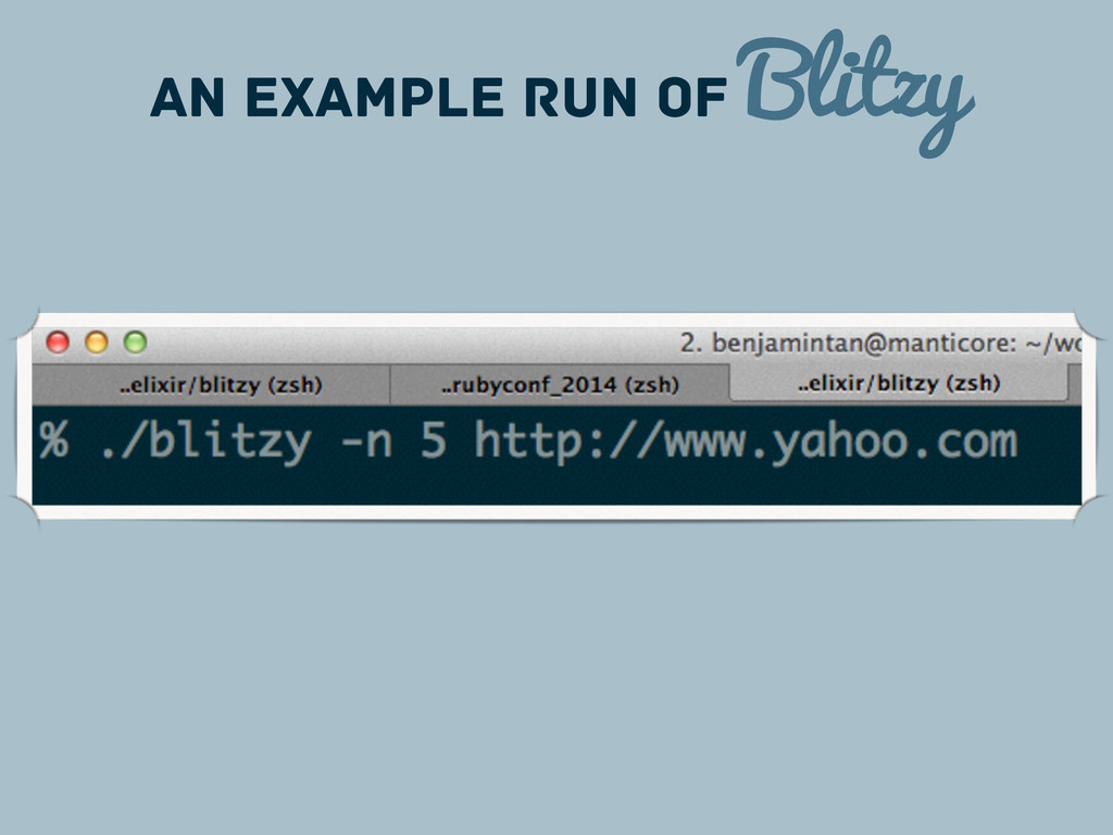AN Example Run of Blitzy