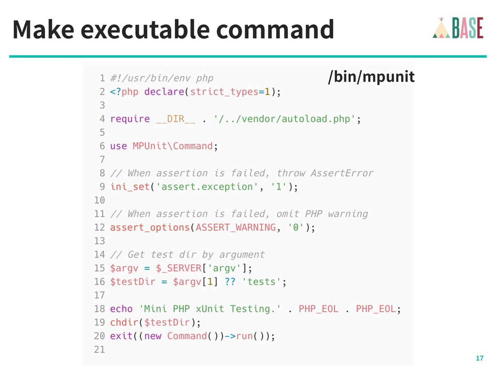 © - BASE, Inc. Make executable command /bin/mpu...