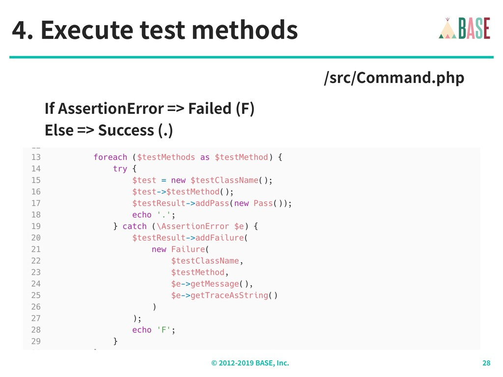 © - BASE, Inc. . Execute test methods /src/Comm...
