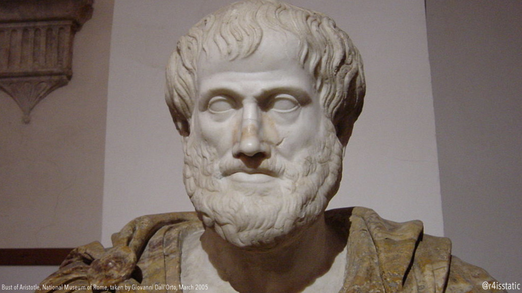 Bust of Aristotle, National Museum of Rome, tak...