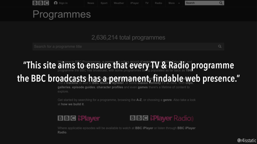 """""""This site aims to ensure that every TV & Radio..."""