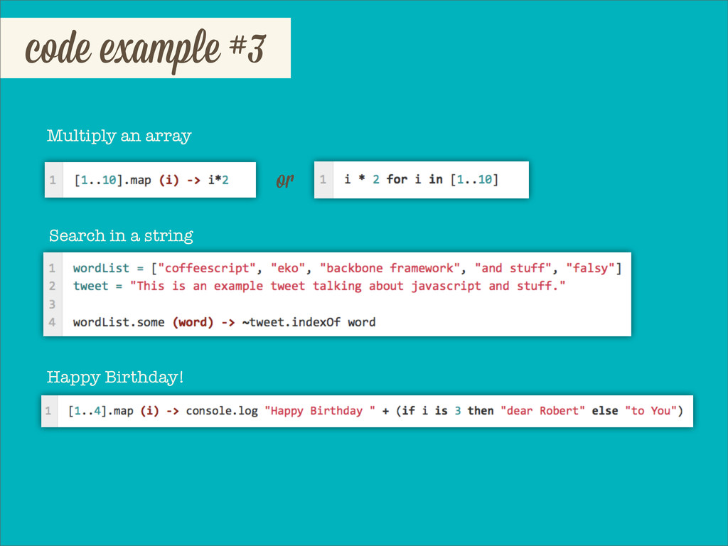 code example #3 Multiply an array o Search in a...