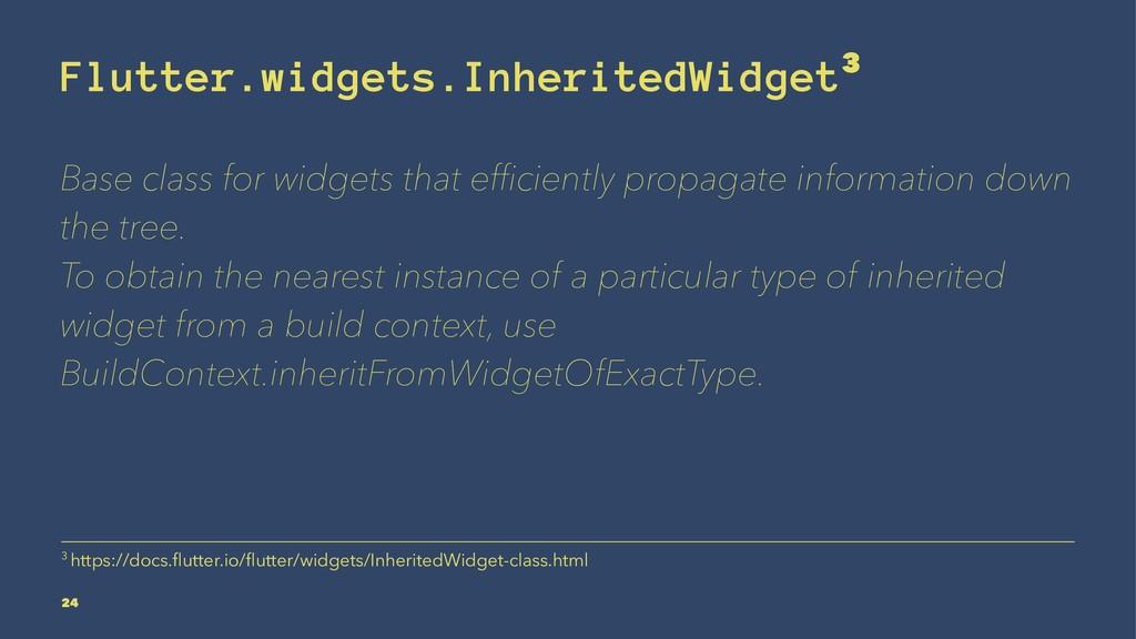 Flutter.widgets.InheritedWidget3 Base class for...