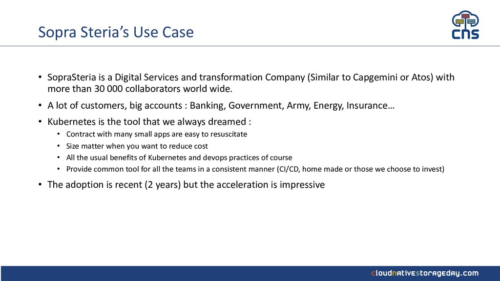 Sopra Steria's Use Case • SopraSteria is a Digi...