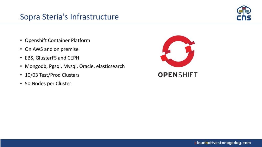 Sopra Steria's Infrastructure • Openshift Conta...