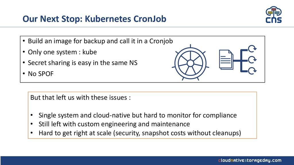 Our Next Stop: Kubernetes CronJob • Build an im...