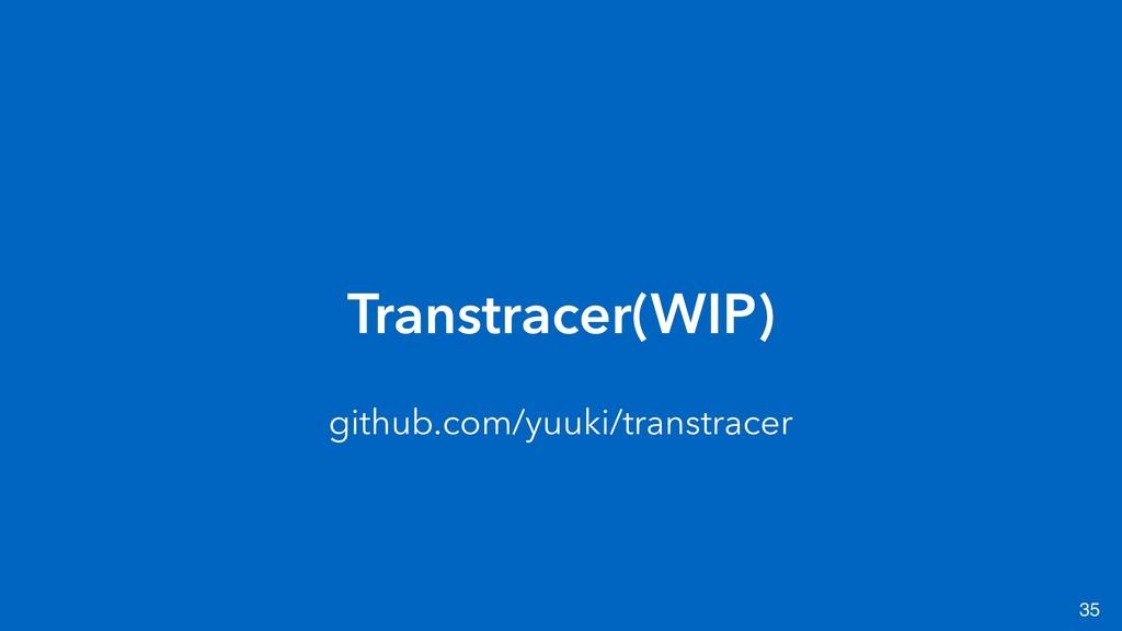 35 Transtracer(WIP) github.com/yuuki/transtracer
