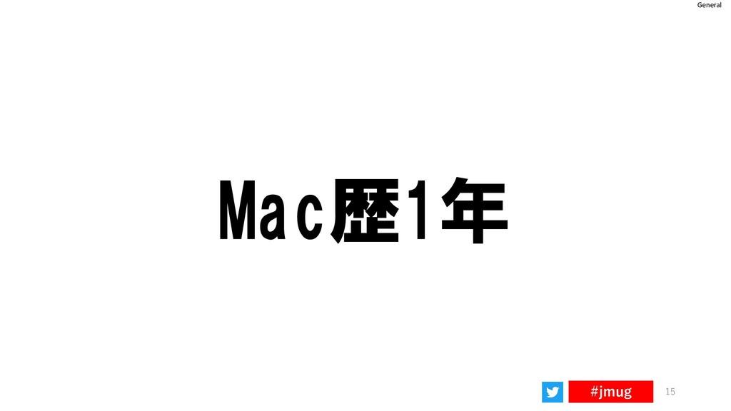 General #jmug 15 Mac歴1年