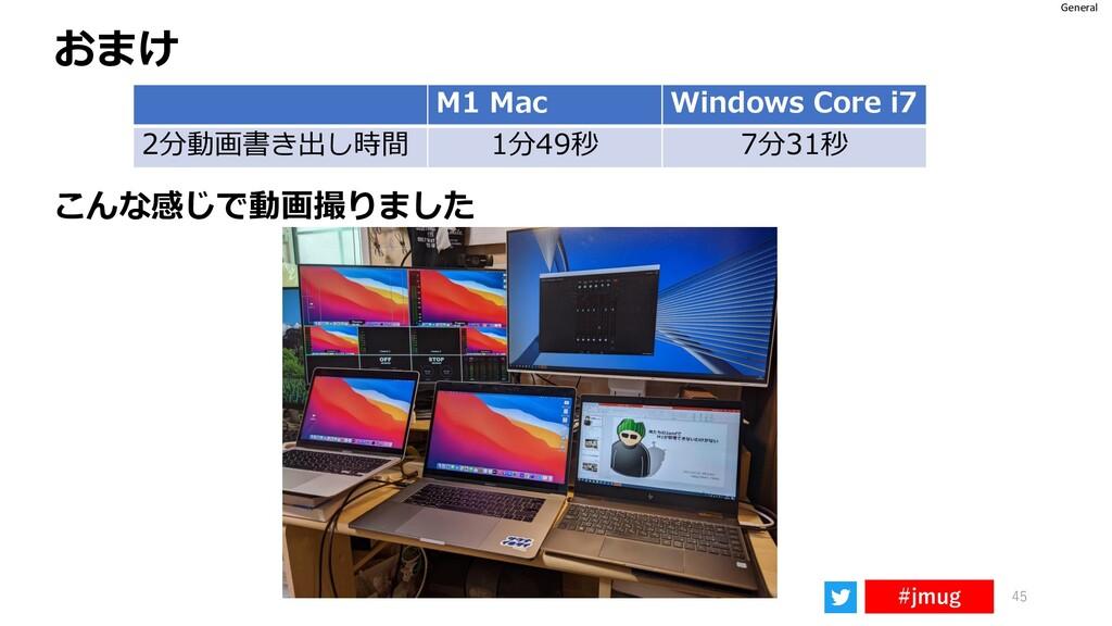 General #jmug 45 おまけ M1 Mac Windows Core i7 2分動...
